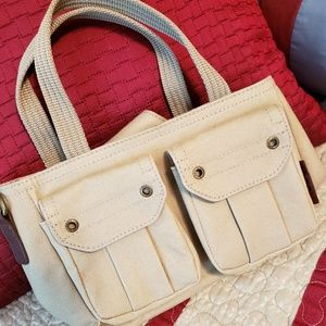 NWOT Adorable Fossil Brand Mini Canvas Bag